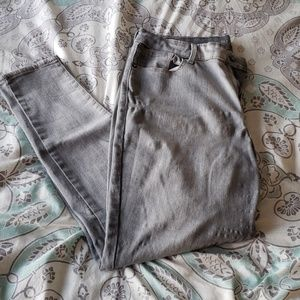 Old navy Grey mid-rise skinny jeans